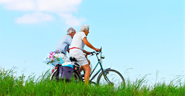 elder-biking